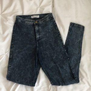 American Apparel High Waist Acid Wash Easy Jeans